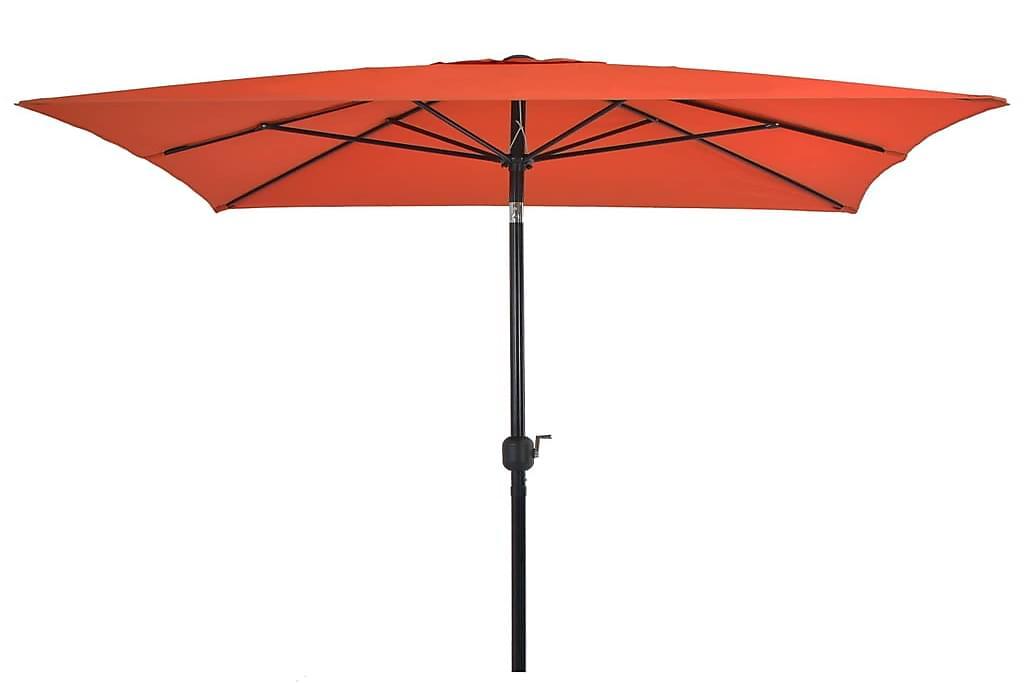Udendørs Parasol m Metalstang 300 X 200 Cm Terracotta - Brun - Havemøbler - Solafskærmning - Parasoller