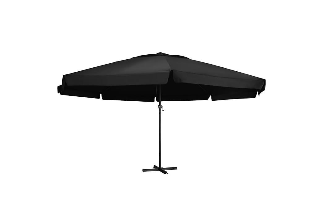 Udendørs Parasol med Aluminiumsstang 500 cm Sort - Sort - Havemøbler - Solafskærmning - Parasoller