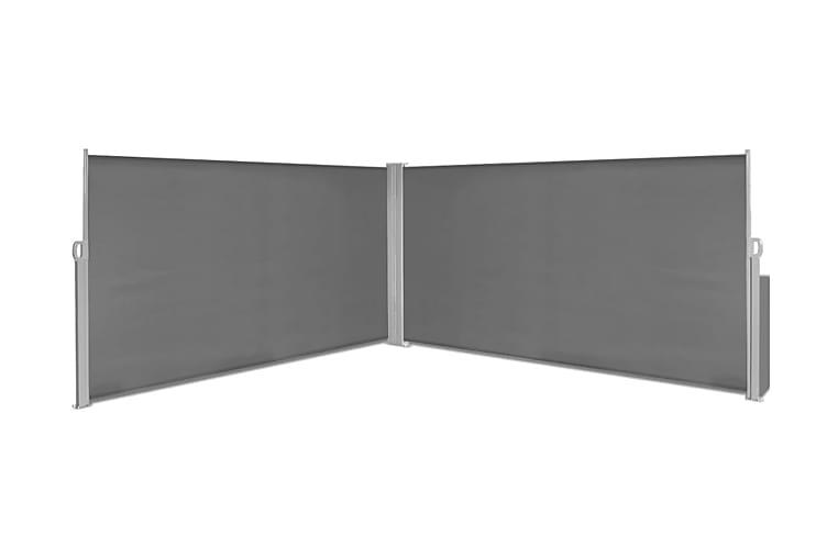 Sammenrullelig Læskærm 160X600 Cm Grå - Grå - Havemøbler - Solafskærmning - Solsejl