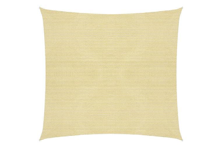 solsejl 160 g/m² 6x6 m HDPE beige - Beige - Havemøbler - Solafskærmning - Solsejl