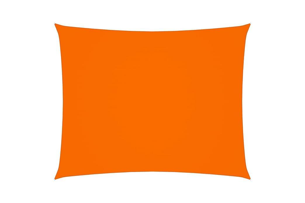 Solsejl 2x2,5 m Rektangulær Oxfordstof Orange - Orange - Havemøbler - Solafskærmning - Solsejl
