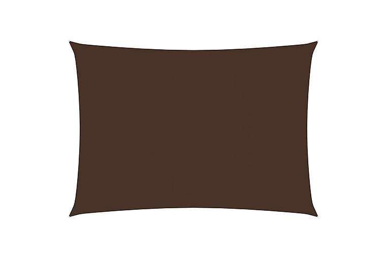 solsejl 2x4,5 m rektangulær oxfordstof brun - Brun - Havemøbler - Solafskærmning - Solsejl
