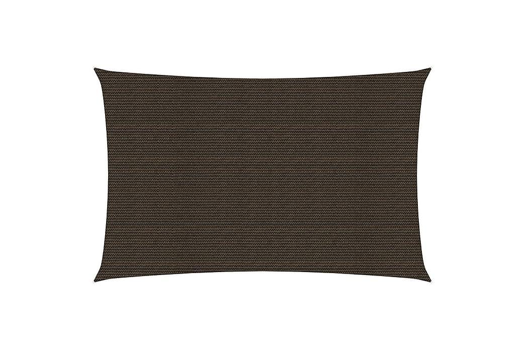 Solsejl 2x5 m 160 g/m² hdpe brun - Brun - Havemøbler - Solafskærmning - Solsejl