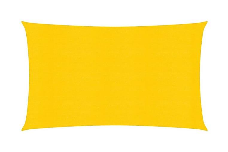 solsejl 2x5 m 160 g/m² HDPE gul - Gul - Havemøbler - Solafskærmning - Solsejl
