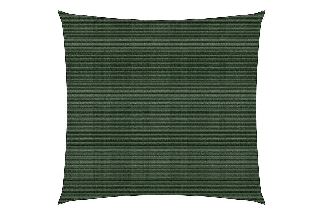 solsejl 3x3 m 160 g/m² HDPE mørkegrøn - Grøn - Havemøbler - Solafskærmning - Solsejl