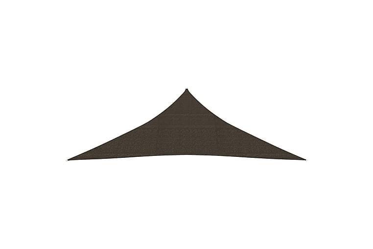 solsejl 5x5x6 m 160 g/m² HDPE brun - Brun - Havemøbler - Solafskærmning - Solsejl