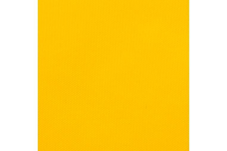 solsejl 5x7x7 m trekantet oxfordstof gul - Gul - Havemøbler - Solafskærmning - Solsejl