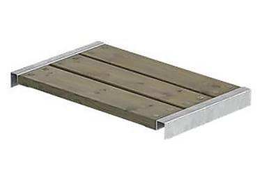Cubic/Pipe bænk længde 60 cm inkl. beslag - grundmalet gråbr