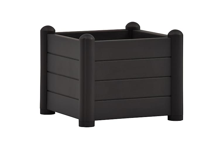 højbed 43x43x35 cm PP antracitgrå - Antracit - Havemøbler - Tilbehør udendørs - Havekrukker