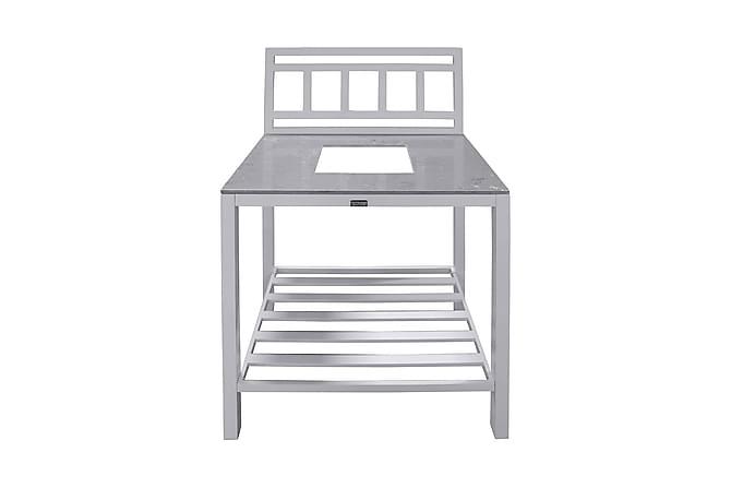 Bagani Midterdel til Udekøkken 90x60 - Hvid - Havemøbler - Udekøkken - Byg dit eget udekøkken