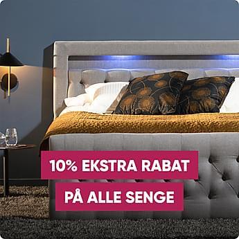 Jubilæumsdeal! 10% ekstra rabat på alle senge