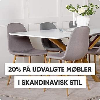 20% på udvalgte møbler i skandinavisk stil