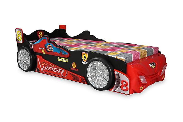 Amino Børneseng Bil Turbo - Rød / sort - Møbler - Børnemøbler - Børneseng & juniorseng