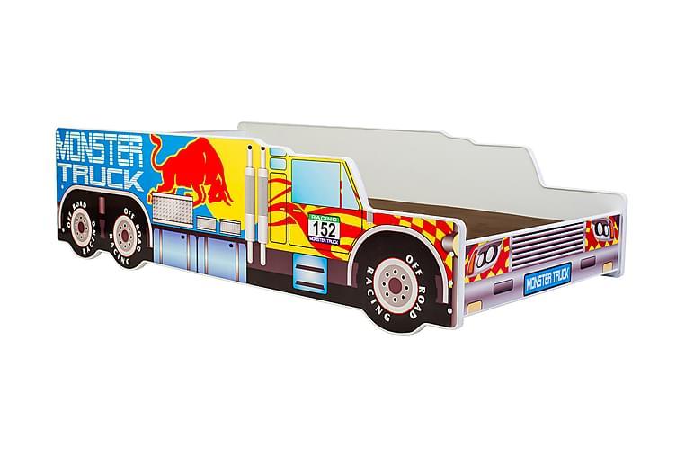 Laswe Børneseng Lastbil 70x140 - Gul - Møbler - Børnemøbler - Børneseng & juniorseng