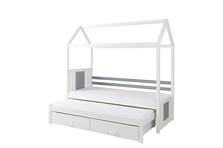Redes Børneseng 80x180 cm Udtrækkelig - Hvid - Møbler - Børnemøbler - Børneseng & juniorseng