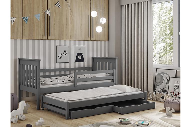 Tim børneseng med ekstra seng og Opbevaring 90x190 antracit - Møbler - Børnemøbler - Børneseng & juniorseng