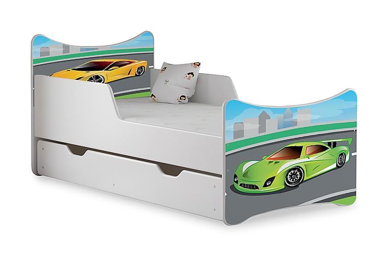 Wiggly børneseng Medium med opbevaring biler - Hvid - Møbler - Børnemøbler - Børneseng & juniorseng