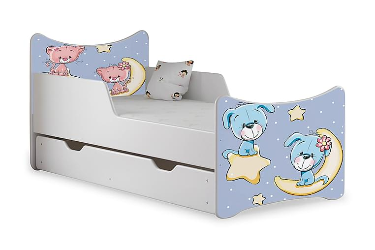 Wiggly børneseng Medium med opbevaring teddymoon - Hvid - Møbler - Børnemøbler - Børneseng & juniorseng