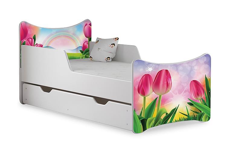 Wiggly børneseng Medium med opbevaring Tulip Dream - Hvid - Møbler - Børnemøbler - Børneseng & juniorseng