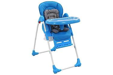 højstol blå og grå