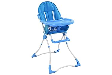 højstol blå og hvid