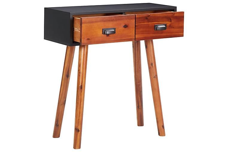 konsolbord 70x30x75 cm massivt akacietræ og MDF - Brun - Møbler - Borde - Aflastningsbord & entrébord