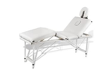 Sammenfoldeligt Massagebord Med Aluminiumsstel,4 Zoner