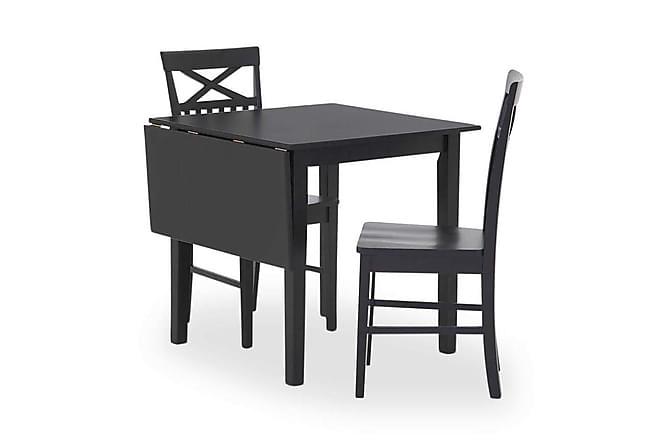 Sander Udvideligt Spisebord 75 cm med Klap - Sort - Møbler - Borde - Spisebord og køkkenbord