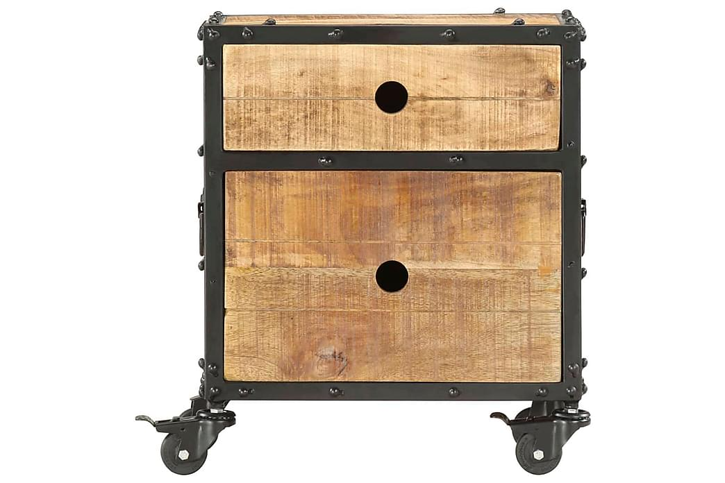 Sengeskab 40x30x50 cm Ru Massivt Mangotræ - Brun - Møbler - Borde - Sengebord