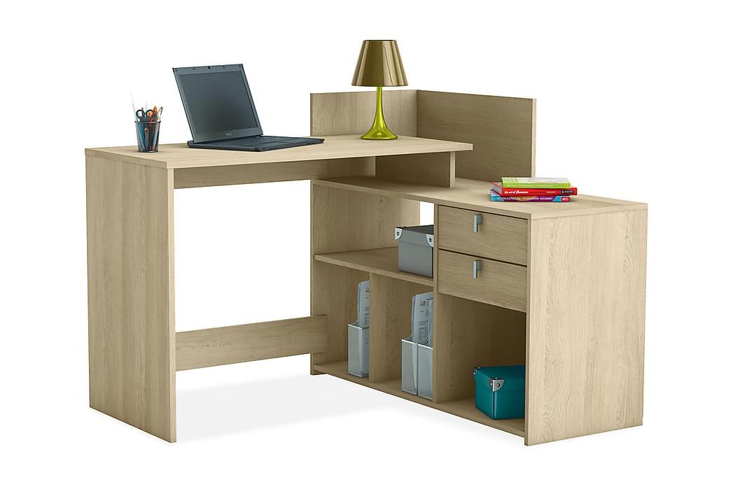 Botvind Skrivebord med Opbevaring - Eg - Møbler - Borde - Skrivebord