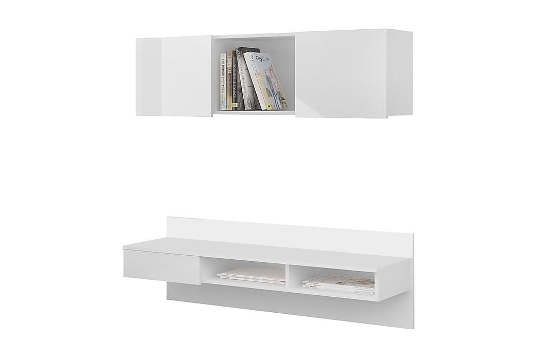 Construct Skrivebord 120 cm med Hylde - Hvid - Møbler - Borde - Skrivebord