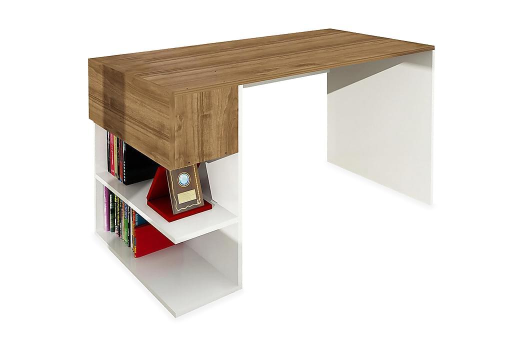 Merinoz Skrivebord - Hvid / valnød - Møbler - Borde - Skrivebord