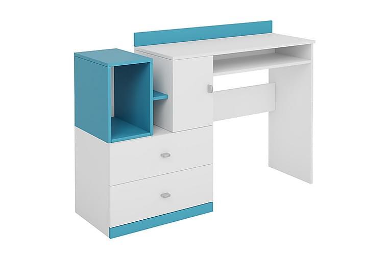 Mobis Skrivebord 130 cm - Hvid/Blå/Grøn - Møbler - Borde - Skrivebord
