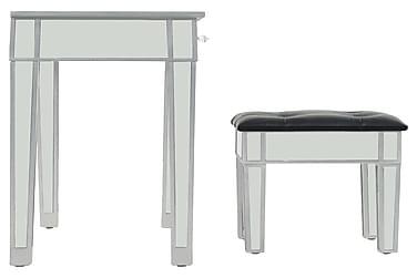 Spejl-Kosmetikbord Med Skammel Mdf Og Glas