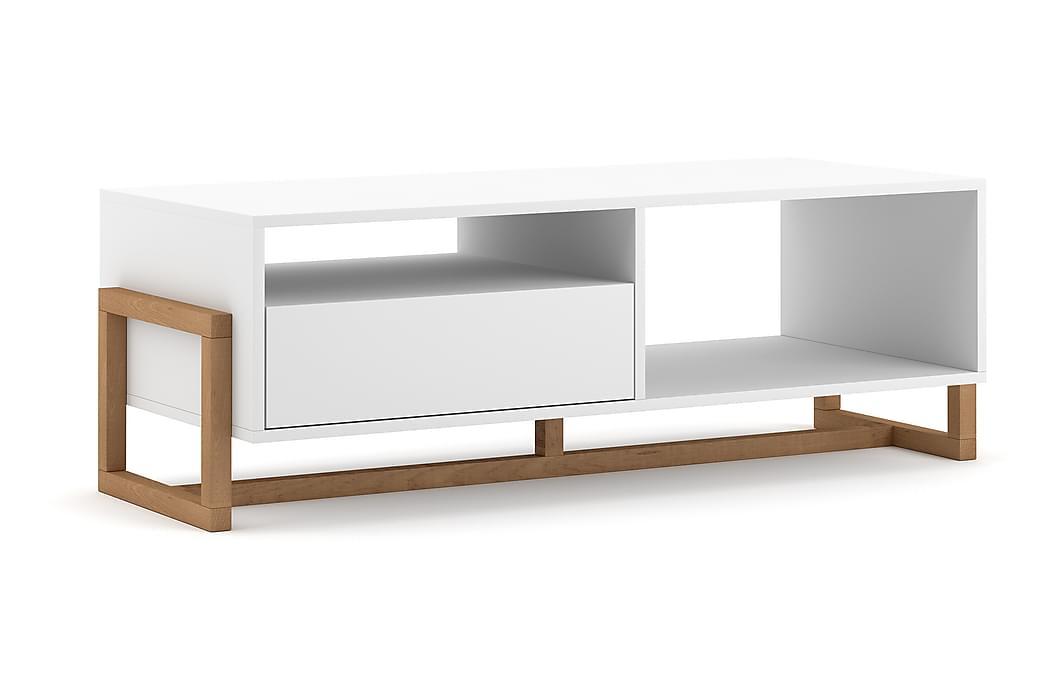 Braco Sofabord 119 cm - Hvid / natur - Møbler - Borde - Sofaborde