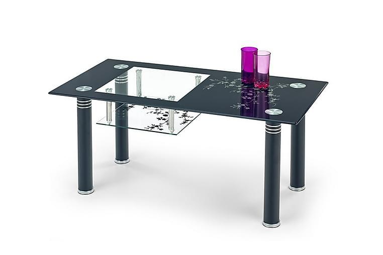 Calles Sofabord 100x50 cm Glas - Sort - Møbler - Borde - Sofaborde