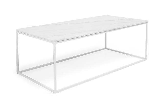 Carrie Sofabord 120 cm Marmor - Hvid - Møbler - Borde - Sofaborde