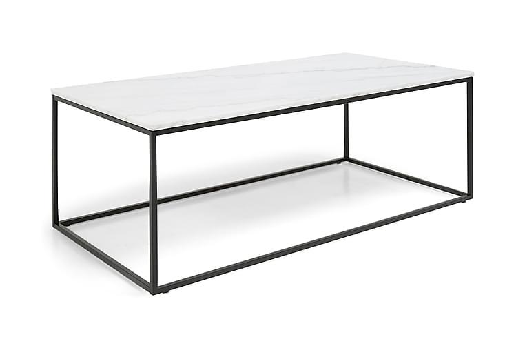 Carrie Sofabord 120 cm Marmor - Hvid/Sort - Møbler - Borde - Sofaborde