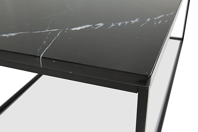 Carrie Sofabord 120 cm Marmor - Sort - Møbler - Borde - Sofaborde
