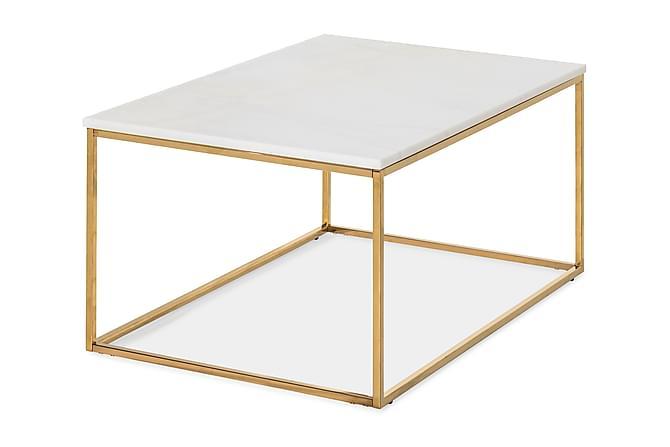 Carrie Sofabord 90 cm - Hvid/Messing - Møbler - Borde - Sofaborde
