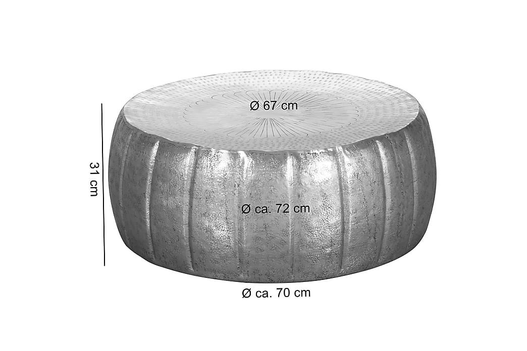 Dominoe sofabord 72 cm - Sølv - Møbler - Borde - Sofaborde