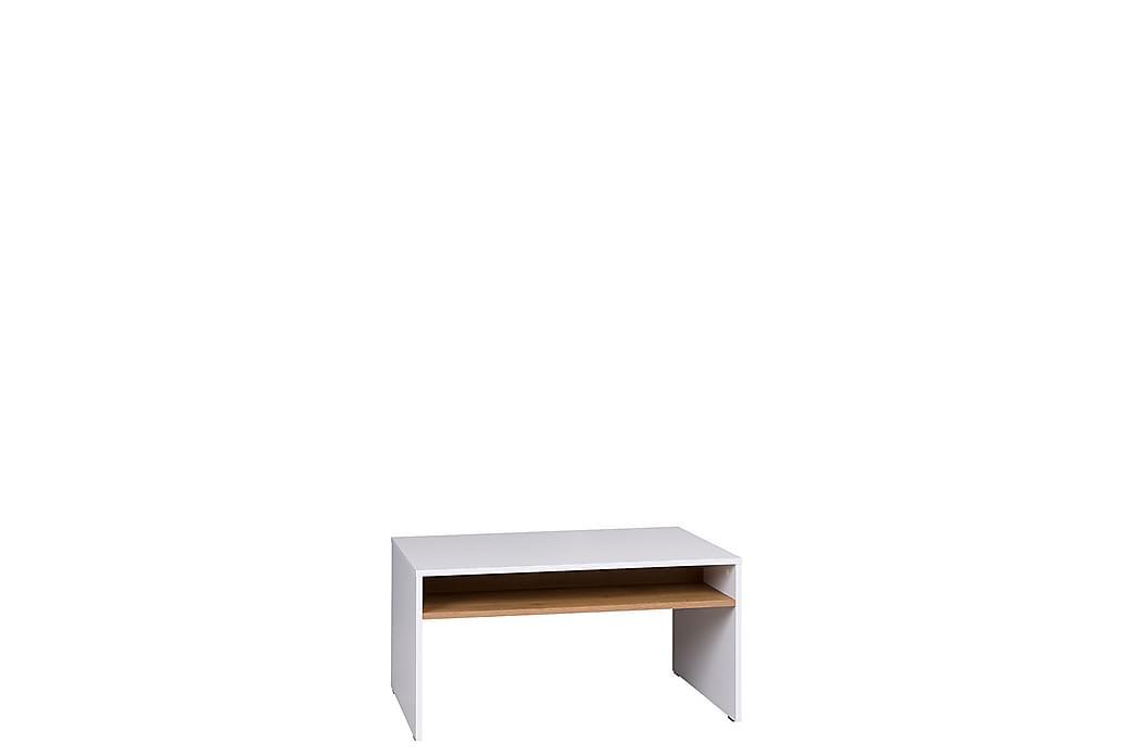 Iwa Sofabord 90x60 cm - Hvid/Eg - Møbler - Borde - Sofaborde