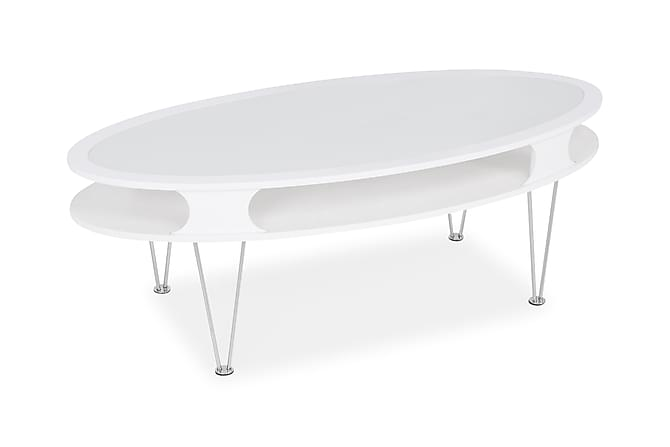 Klista Sofabord 130 cm Oval - Hvid - Møbler - Borde - Sofaborde