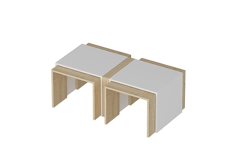 Lunday Sofabord 90 cm - Eg Hvid - Møbler - Borde - Sofaborde