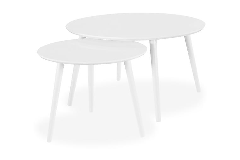 Milo Sofabord 2-pak Rund - Hvid - Møbler - Borde - Sofaborde