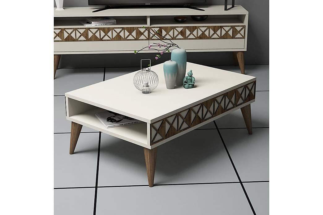 Muennink Sofabord 90 cm - Hvid - Møbler - Borde - Sofaborde