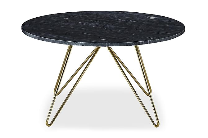 Ponza Sofabord 80 cm Rund Marmor - Grå/Messing - Møbler - Borde - Sofaborde