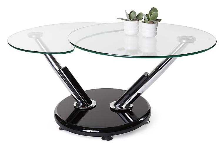 Sintra Sofabord 110 cm Oval - Glas/Krom - Møbler - Borde - Sofaborde