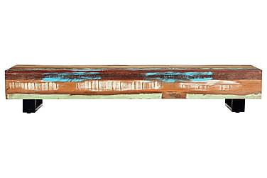 Sofabord 120 X 50 X 30 Cm Massivt Genanvendt Træ Og Stål