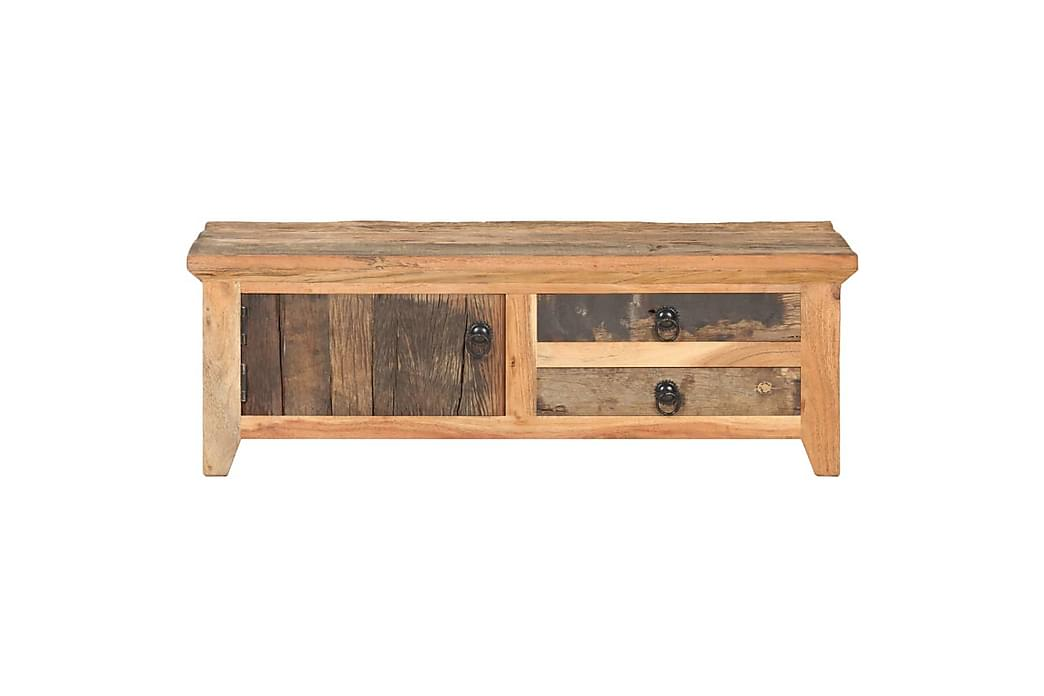 Sofabord 90x50x31 cm massivt genbrugstræ - Møbler - Borde - Sofaborde